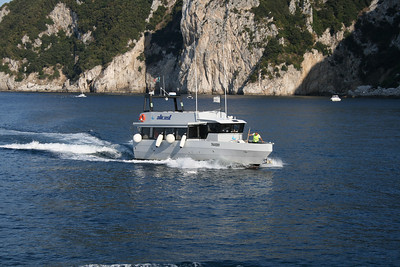 M/V FURORE arriving to Capri from Amalfi coast.