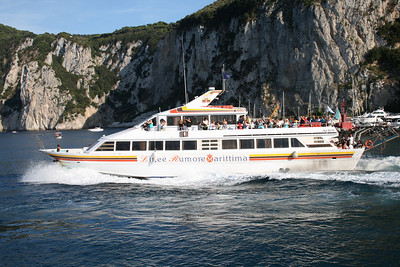 M/V ISCHIA PRINCESS departing from Capri to Ischia.