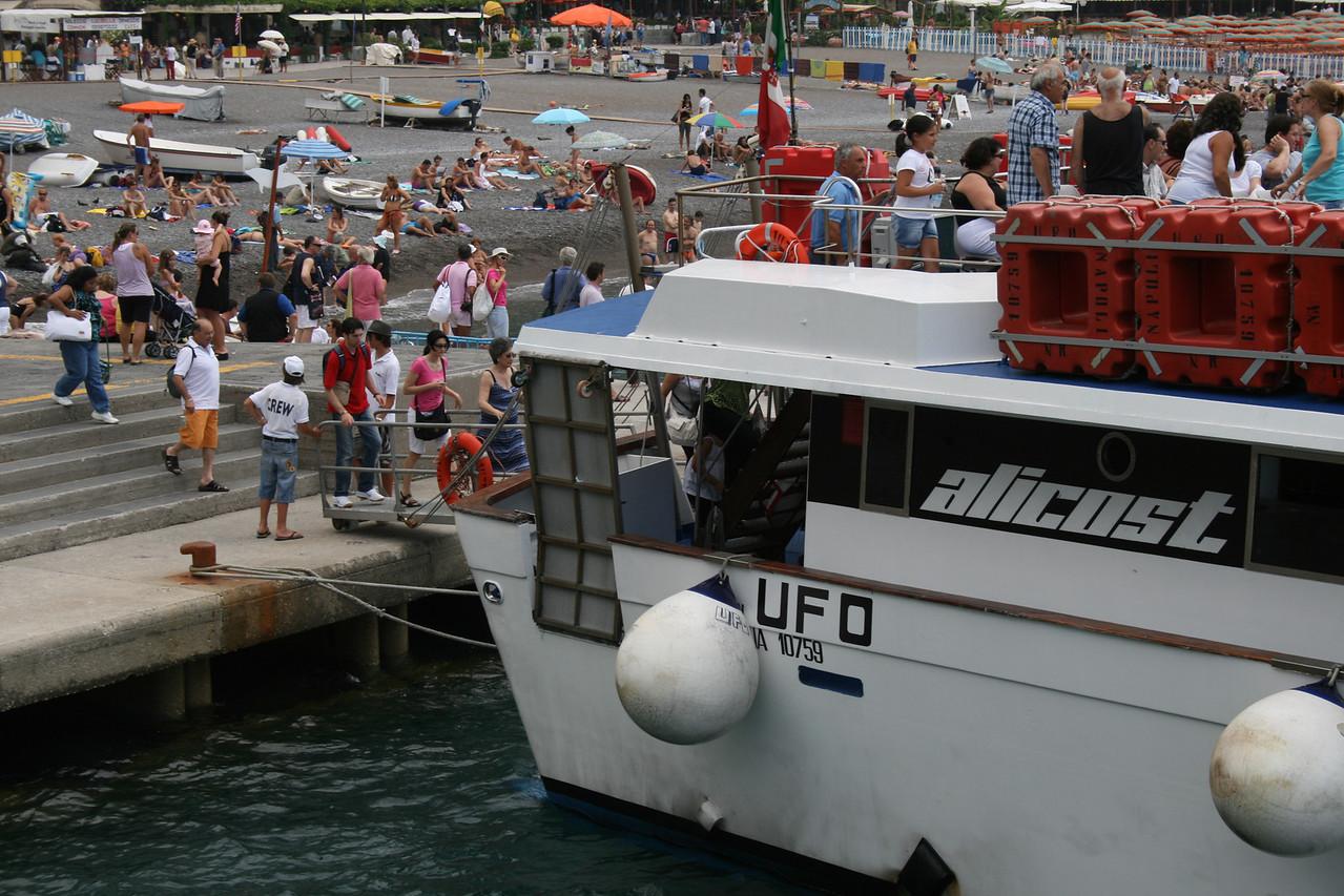 UFO embarking in Positano.