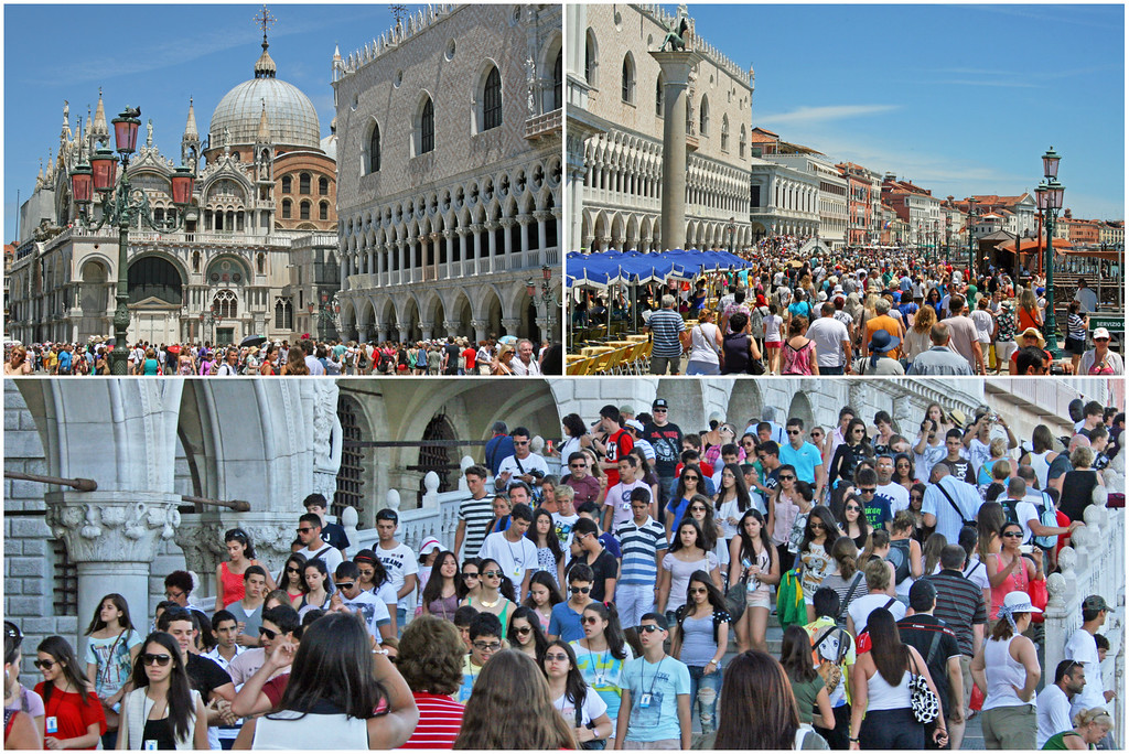 Summer Crowds in Venice Italy