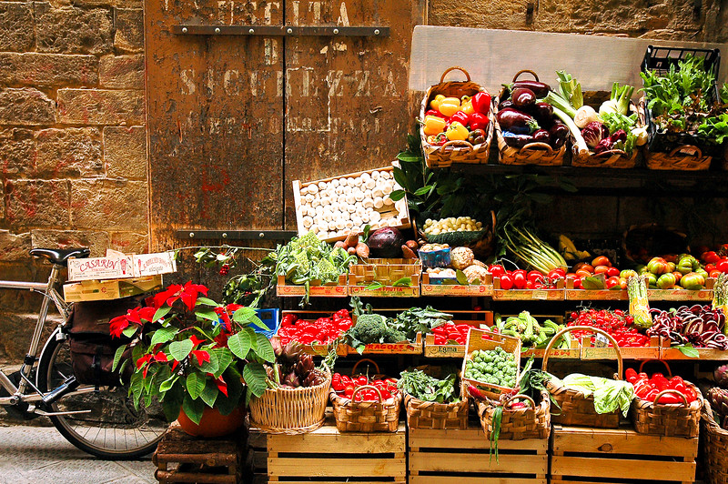 Vegetable Market at Christmas<br /> Florence, Tuscany