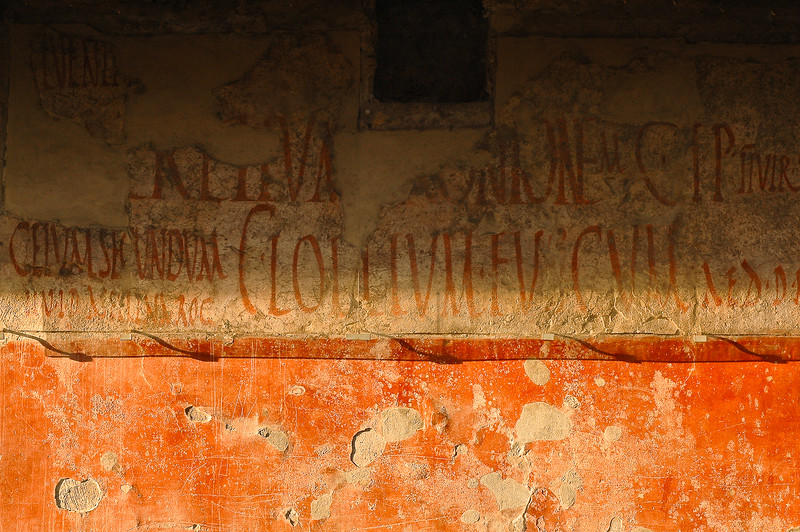 Wall of the Ancient Roman City of Pompeii<br /> Pompeii, Campania
