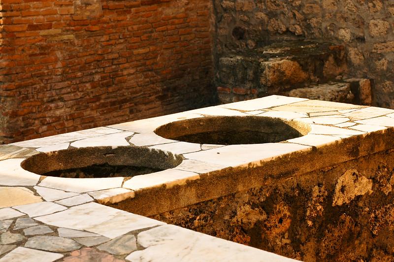 Wine Vessel Stands<br /> Ancient Roman City of Pompeii, Campania