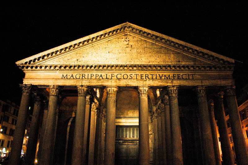 The Pantheon at Night<br /> Rome, Lazio Region