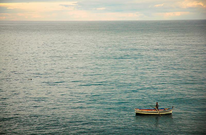 Boat on the Tyrrhenian Sea<br /> Cefalù, Sicily