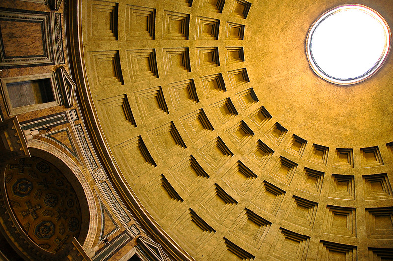 Pantheon Ceiling<br /> Rome, Lazio Region