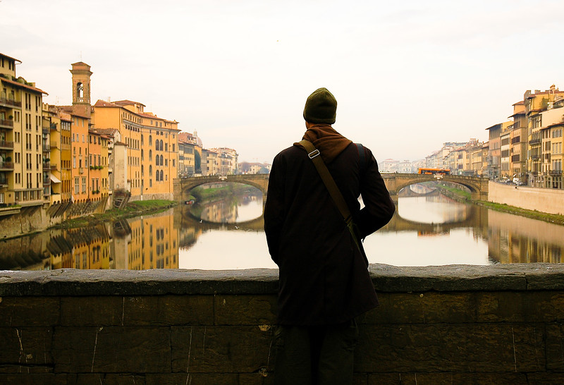 Bridge over the Arno River<br /> Florence, Tuscany