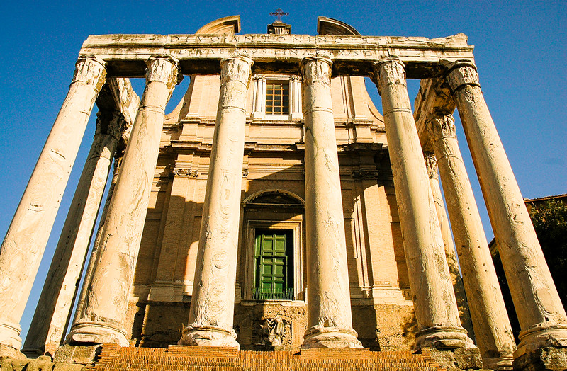 The Temple of Antoninus and Faustina<br /> Roman Forum<br /> Rome, Lazio