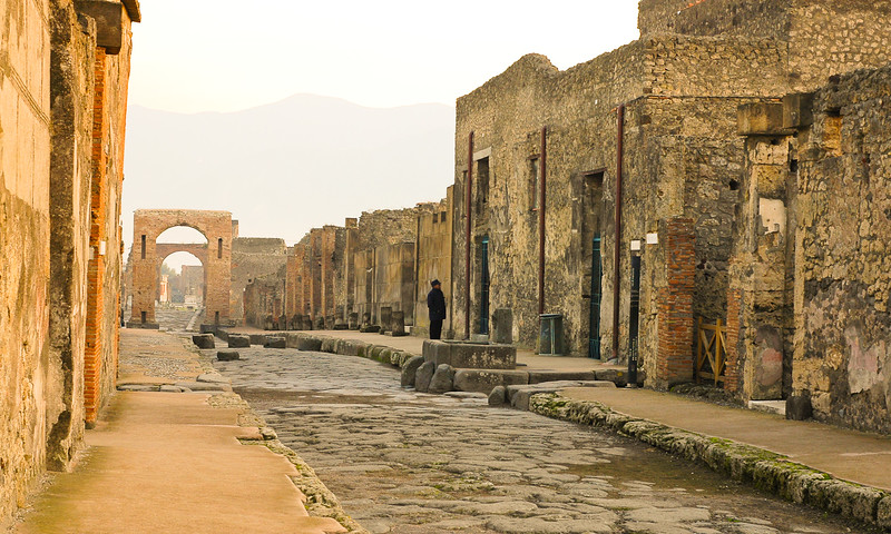 Streets of Ancient Pompeii<br /> Pompeii, Campania