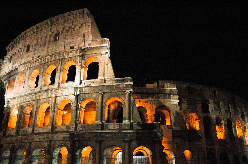 The Coliseum at Night<br /> Rome, Lazio Region