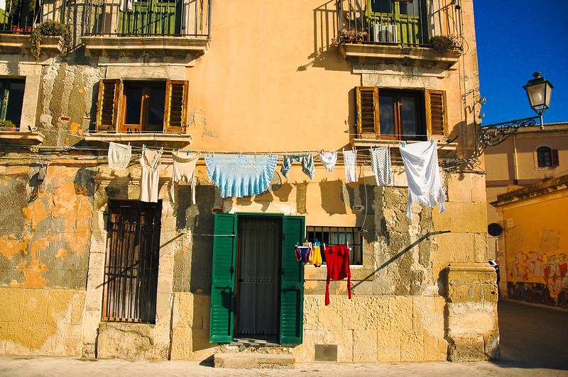Laundry Drying<br /> Siracusa, Sicily