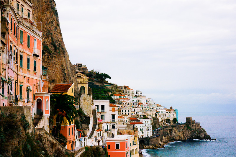 Cliff Town of Amalfi<br /> Amalfi Coast<br /> Salemo, Campania