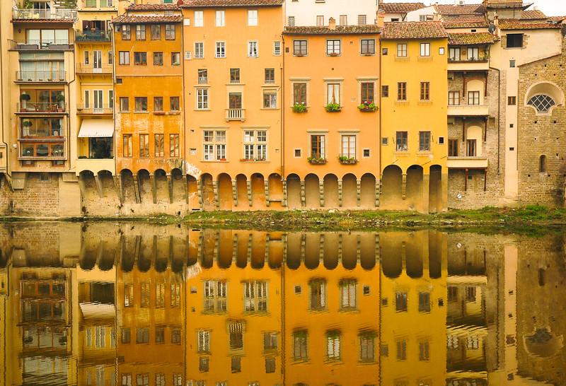 Reflection in the Arno River<br /> Florence, Tuscany