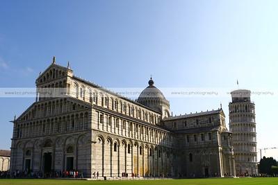 Duomo di Santa Maria Assunta (Pisa Cathedral), Torre Pendente di Pisa (Leaning Tower of Pisa), Piazza dei Miracoli (Square of Miracles), Pisa, Italy