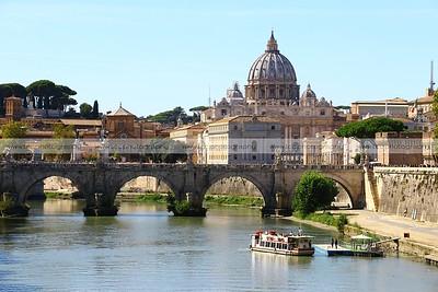 Vatican City from Ponte Umberto, Rome, Italy