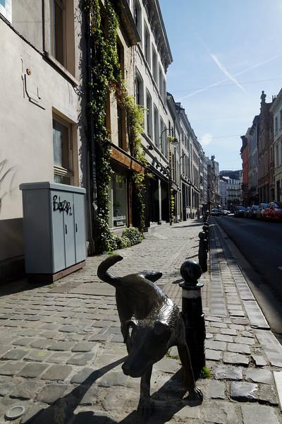 Het Zinneke Statue in Brussels