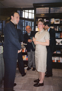 Book launch of Swedish Textile Art  – The Khalili Collection (by Viveka Hansen), Hatchards bookstore in London, United Kingdom, in April 1996.