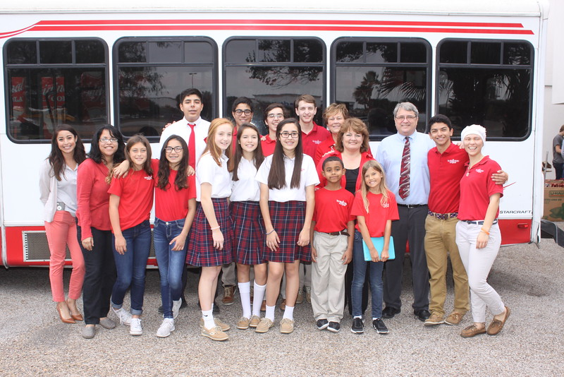 IWA Elementary, Middle, and High School Level student council representatives, faculty, and staff delivered nearly 4,000 canned goods and nonperishable food items on Dec. 2 to the KIII-TV News Studios for the Share Your Christmas Food Drive.