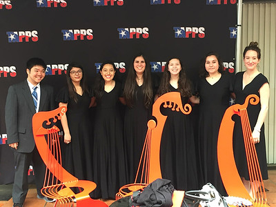 Tho Nguyen, Desirae McCracken, Yanet Vasquez, Mary Vivian De Arman, Gabrielle Garcia, Lydia Jimenez and Choir Director Christy Carlisle