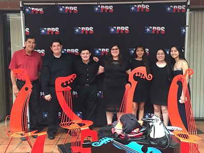 Band Director Joe Hernandez, Andrew Garcia, Esteban Moreida, Sarah Garcia, Sabrina De Santiago, Alexa Mendoza and Kaylyn Dinh