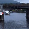 Cruidin about to pass under Killaloe Bridge.