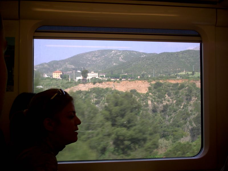 Here is a shot out of the train on the way to Montserrat.