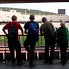 Joe, David, Matt and  Alder at El Estadio Olimpico. Everyone here is from Oregon.