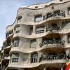 Here is Casa Milá by Gaudí. It is like right across the street from Casa Batlló. I really like the fungus like balconies.