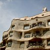 Here is another shot of casa Milá. The pictures i have seen of the inside are incredible. Gaudi also made a lot of the furniture for the inside. <br /> I hear that the wife of the rich fellow that had this house built hated the place because she couldnt find any furniture to match the look. They ended up moving somewhere else.