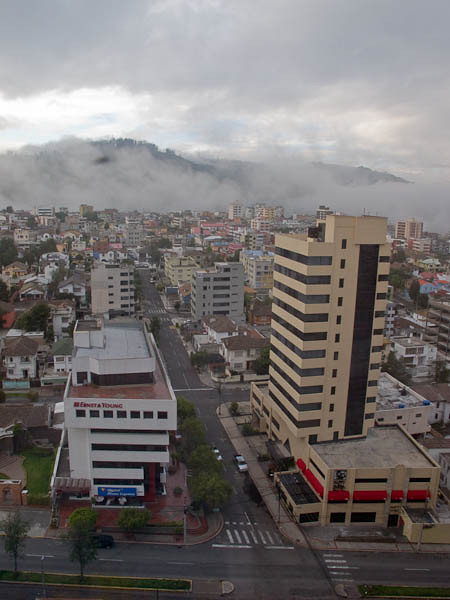 The view of Quito from our hotel.