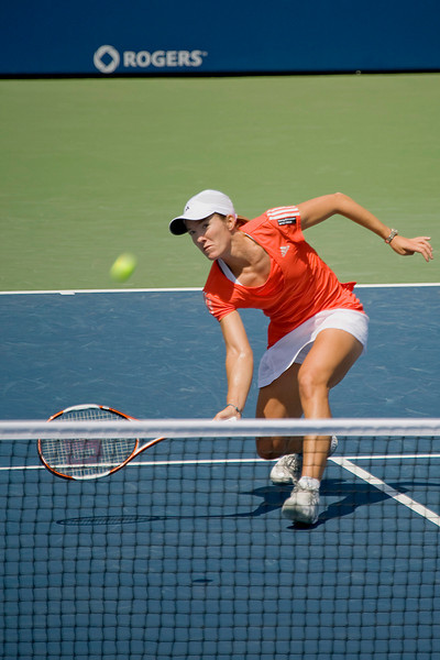 Justine Henin.  Top Women's tennis player in the world.