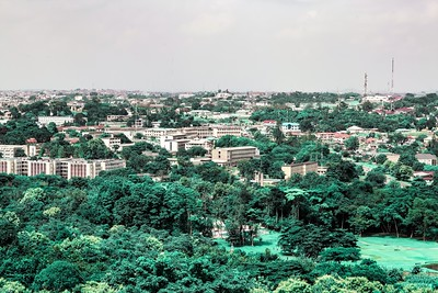 Aerial photo of the Government Secretarial Ibadan; seat of the government of Oyo state  Ibadan Oyo State Nigeria