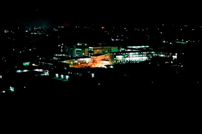 Aerial view at night University College Hospital UCH Ibadan Oyo Statte Nigeria.