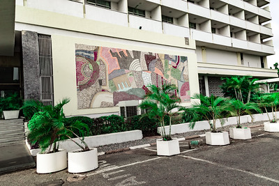 Wall Mural Art work Premier Hotel Ibadan Nigeria.