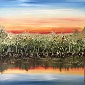 Daybreak on Leech Lake in July