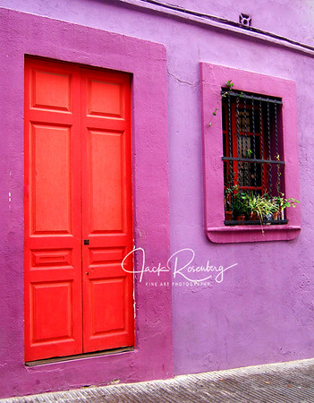 """Colorful Door And Building"""