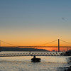 Sunset on the waterfront in Lisboa