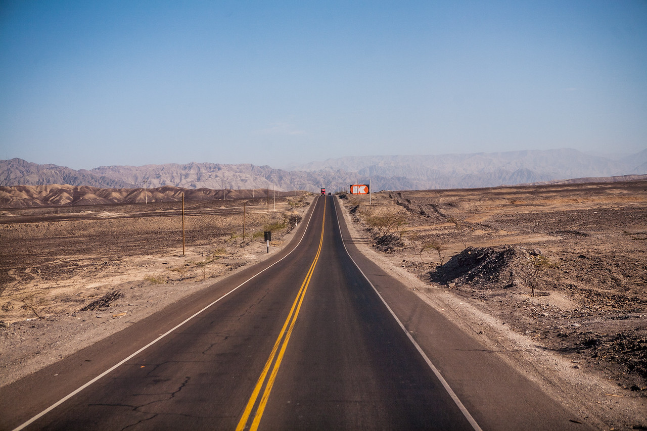 The road to Ica, surrounded by deserts