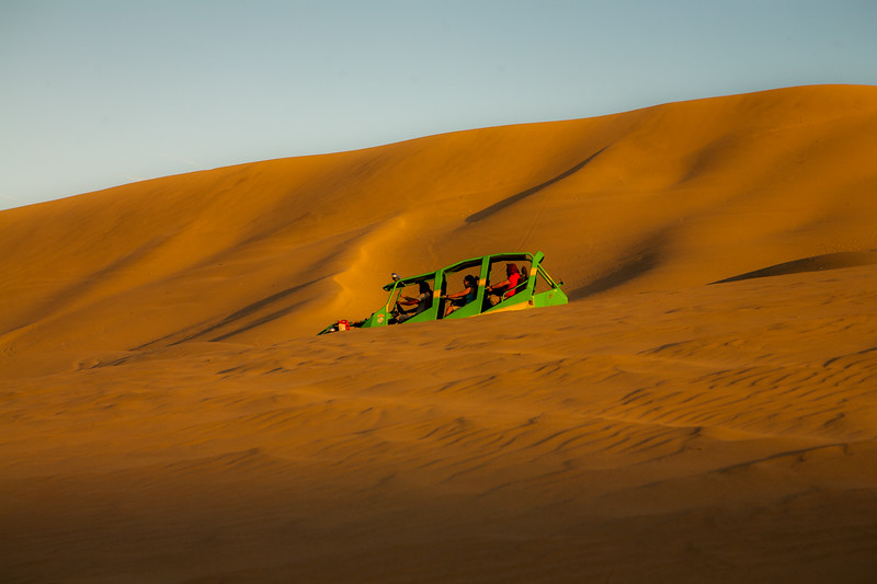 Buggy rides on the sand dunes of Huacachina near Ica in Peru