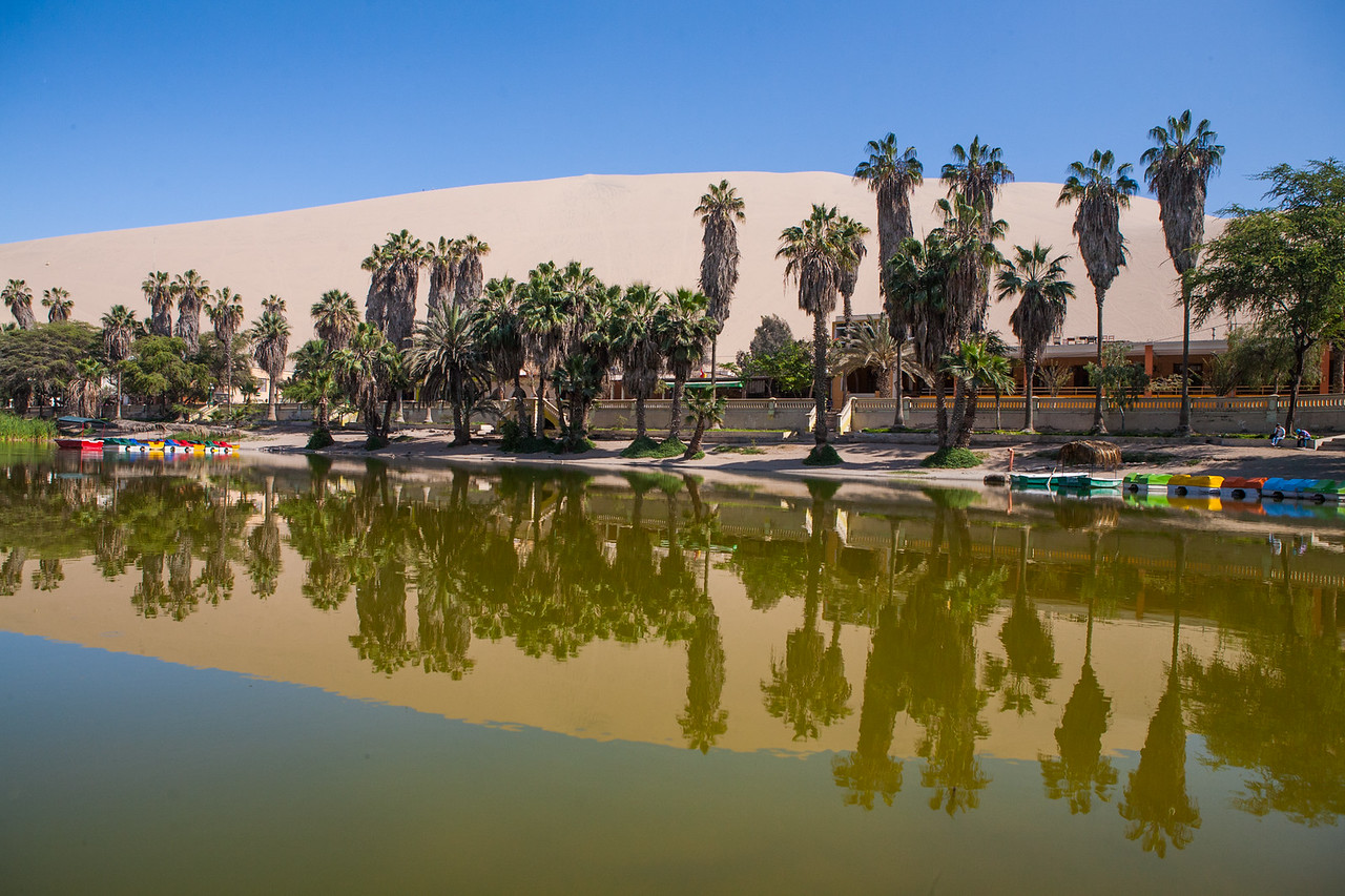 Desert oasis of Huacachina, near the city of Ica in Peru