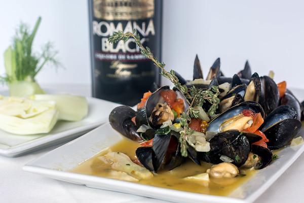 Prince Edward mussels, sambuca fennel sauce