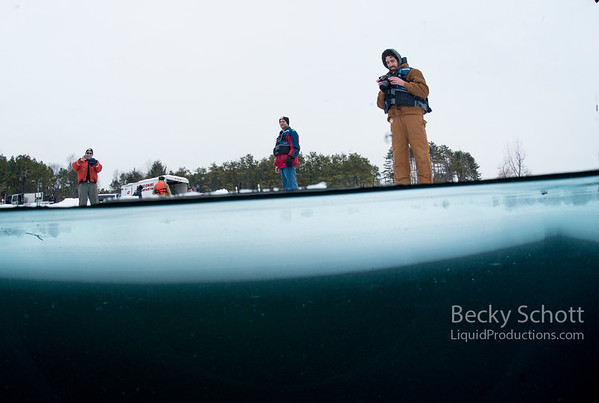 Above and Below the ice