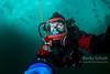 Ice diving selfie