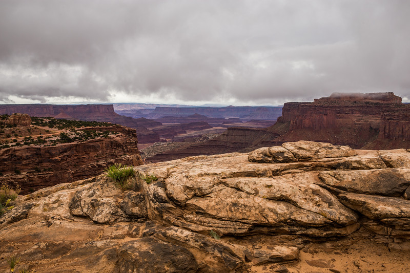 Shafer Canyon On a Cloudy Day