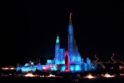 1987 St. Paul Winter Carnival Ice Castle, Lake Phalen, St. Paul, MN---IC-7034