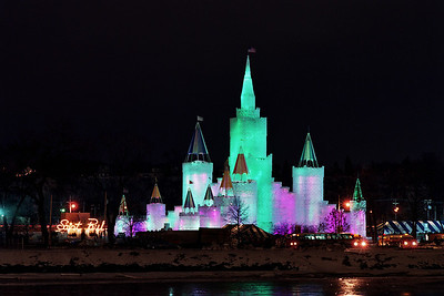 1992 St. Paul Winter Carnival Ice Castle---IC-7028