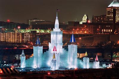 1992 St. Paul Winter Carnival Ice Castle---IC-7017