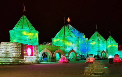 2004 St. Paul Winter Carnival Ice Castle---IC-7045