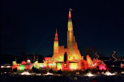 1987 St. Paul Winter Carnival Ice Castle, Lake Phalen, St. Paul, MN---IC-7040