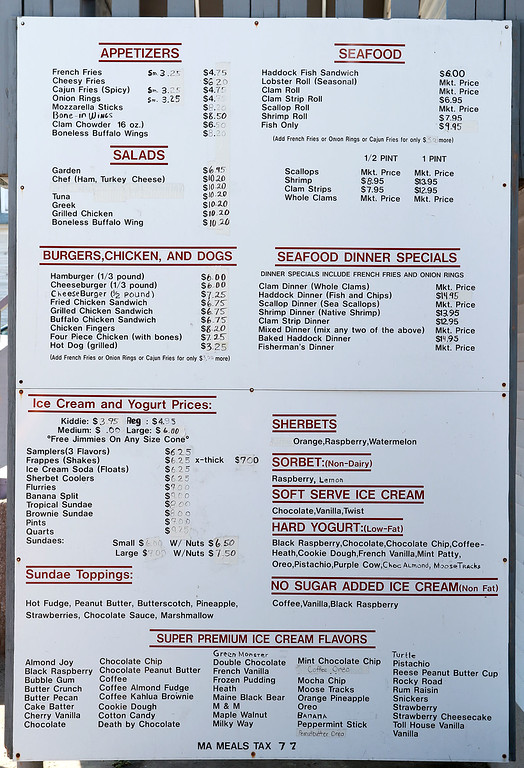 . The Ice Cream Factory owner Paul Panagiotes and previous owner, his uncle Tom, talked about the family business on Friday morning in the shop in Townsend. Don\'t let the name miss lead you they serve more then just ice cream. This menu proves it. SENTINEL & ENTERPRISE/JOHN LOVE